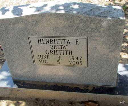 GRIFFITH, HENRIETTA F (RHETA) - Monroe County, Arkansas | HENRIETTA F (RHETA) GRIFFITH - Arkansas Gravestone Photos