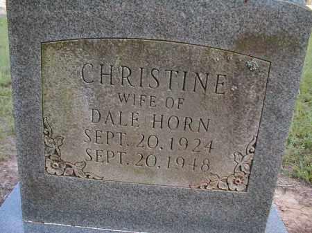 HORN, CHRISTINE - Monroe County, Arkansas | CHRISTINE HORN - Arkansas Gravestone Photos