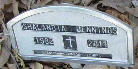 JENNINGS, SHALANDIA - Monroe County, Arkansas | SHALANDIA JENNINGS - Arkansas Gravestone Photos