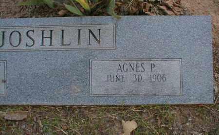 JOSHLIN, AGNES P. - Monroe County, Arkansas | AGNES P. JOSHLIN - Arkansas Gravestone Photos