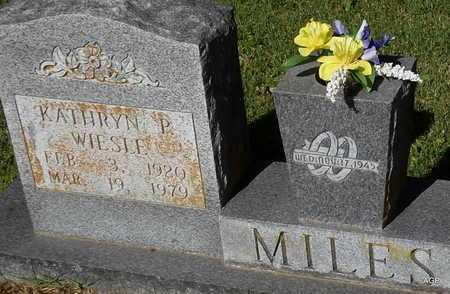 WIESLE MILES, KATHRYN P - Monroe County, Arkansas | KATHRYN P WIESLE MILES - Arkansas Gravestone Photos