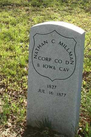 MILLMAN (VETERAN UNION), NATHAN C - Monroe County, Arkansas   NATHAN C MILLMAN (VETERAN UNION) - Arkansas Gravestone Photos