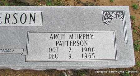 PATTERSON, ARCH MURPHY (CLOSE UP) (2 STONES) - Monroe County, Arkansas | ARCH MURPHY (CLOSE UP) (2 STONES) PATTERSON - Arkansas Gravestone Photos