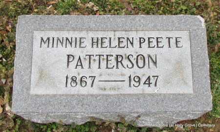 PATTERSON, MINNIE HELEN - Monroe County, Arkansas   MINNIE HELEN PATTERSON - Arkansas Gravestone Photos