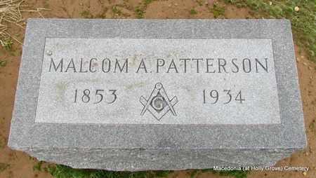 PATTERSON, MALCOM A - Monroe County, Arkansas   MALCOM A PATTERSON - Arkansas Gravestone Photos