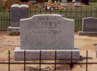 PATTERSON, WALKER ALBERT - Monroe County, Arkansas   WALKER ALBERT PATTERSON - Arkansas Gravestone Photos