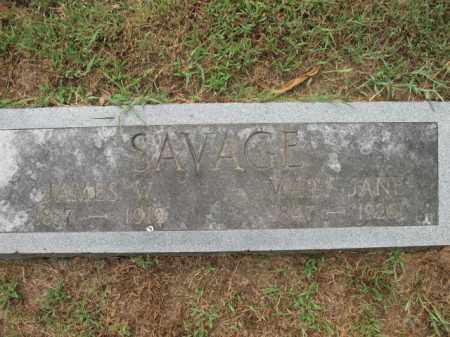 SAVAGE, JAMES W - Monroe County, Arkansas | JAMES W SAVAGE - Arkansas Gravestone Photos