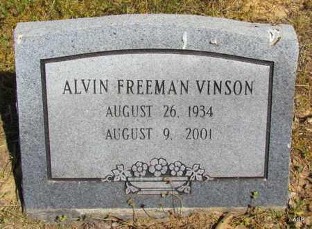 VINSON, ALVIN FREEMAN - Monroe County, Arkansas   ALVIN FREEMAN VINSON - Arkansas Gravestone Photos