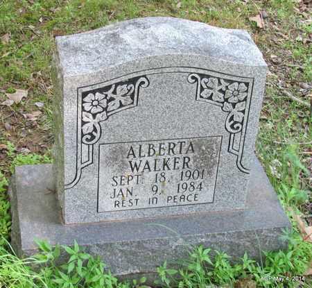 WALKER, ALBERTA - Monroe County, Arkansas   ALBERTA WALKER - Arkansas Gravestone Photos