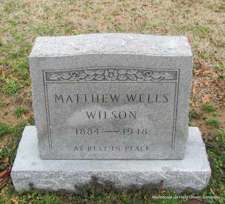 WILSON, MATTHEW WELLS - Monroe County, Arkansas | MATTHEW WELLS WILSON - Arkansas Gravestone Photos
