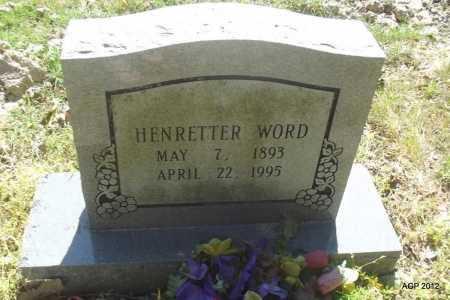 WORD, HENRETTER - Monroe County, Arkansas | HENRETTER WORD - Arkansas Gravestone Photos