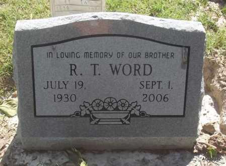 WORD, R T - Monroe County, Arkansas | R T WORD - Arkansas Gravestone Photos