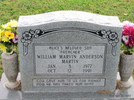 MARTIN, WILLIAM MARVIN ANDERSON - Monroe County, Arkansas   WILLIAM MARVIN ANDERSON MARTIN - Arkansas Gravestone Photos