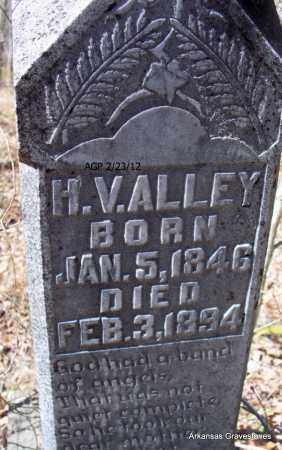 ALLEY, H V  (CLOSE UP_ - Montgomery County, Arkansas | H V  (CLOSE UP_ ALLEY - Arkansas Gravestone Photos