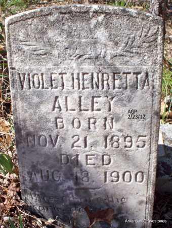 ALLEY, VIOLET HENRETTA - Montgomery County, Arkansas | VIOLET HENRETTA ALLEY - Arkansas Gravestone Photos