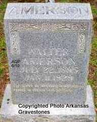 AMERSON, WALTER - Montgomery County, Arkansas | WALTER AMERSON - Arkansas Gravestone Photos