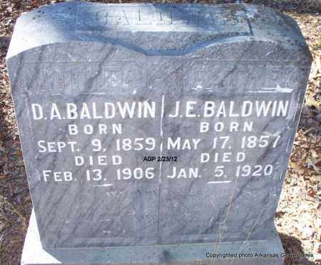BALDWIN, D A - Montgomery County, Arkansas | D A BALDWIN - Arkansas Gravestone Photos