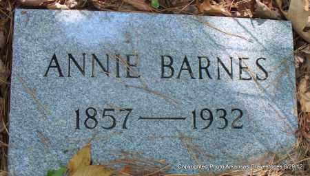 BARNES, ANNIE - Montgomery County, Arkansas | ANNIE BARNES - Arkansas Gravestone Photos