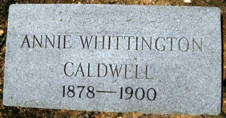 CALDWELL, ANNIE - Montgomery County, Arkansas | ANNIE CALDWELL - Arkansas Gravestone Photos