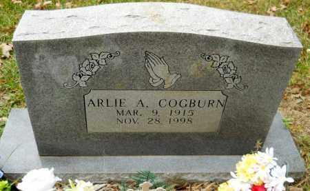 COGBURN, ARLIE A - Montgomery County, Arkansas   ARLIE A COGBURN - Arkansas Gravestone Photos