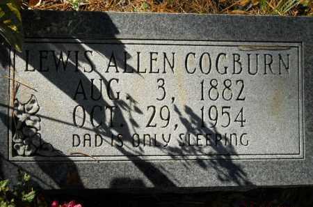 COGBURN, LEWIS ALLEN - Montgomery County, Arkansas   LEWIS ALLEN COGBURN - Arkansas Gravestone Photos