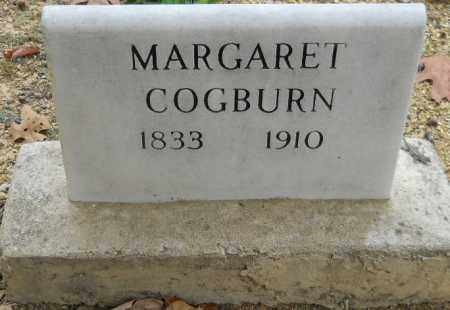COGBURN, MARGARET - Montgomery County, Arkansas | MARGARET COGBURN - Arkansas Gravestone Photos
