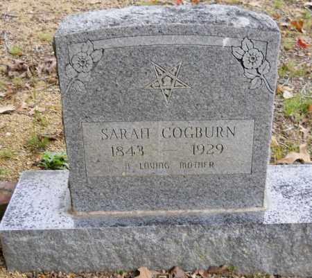 COGBURN, SARAH - Montgomery County, Arkansas | SARAH COGBURN - Arkansas Gravestone Photos