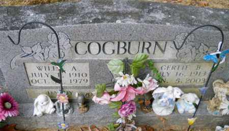 COGBURN, WILLIE A - Montgomery County, Arkansas | WILLIE A COGBURN - Arkansas Gravestone Photos