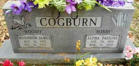 "COGBURN, WOODROW JAMES ""WOODIE"" - Montgomery County, Arkansas | WOODROW JAMES ""WOODIE"" COGBURN - Arkansas Gravestone Photos"