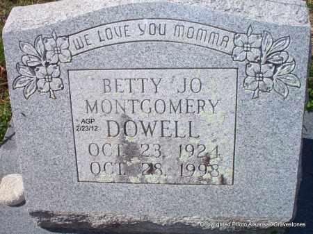 DOWELL, BETTY JO - Montgomery County, Arkansas | BETTY JO DOWELL - Arkansas Gravestone Photos