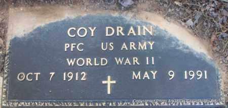 DRAIN (VETERAN WWII), COY - Montgomery County, Arkansas | COY DRAIN (VETERAN WWII) - Arkansas Gravestone Photos
