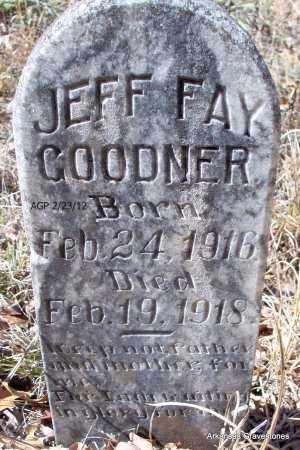GOODNER, JEFF FAY - Montgomery County, Arkansas | JEFF FAY GOODNER - Arkansas Gravestone Photos