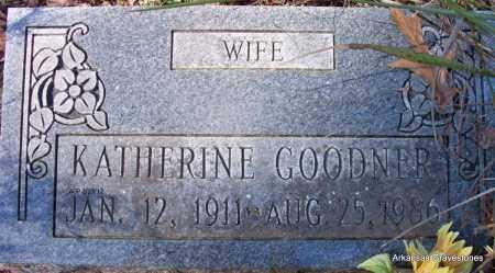 GOODNER, WILLIE KATHERINE - Montgomery County, Arkansas | WILLIE KATHERINE GOODNER - Arkansas Gravestone Photos