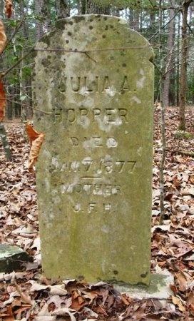 PAYSINGER HOPPER, JULIA A. - Montgomery County, Arkansas | JULIA A. PAYSINGER HOPPER - Arkansas Gravestone Photos