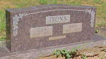 IRONS, JERRY - Montgomery County, Arkansas | JERRY IRONS - Arkansas Gravestone Photos