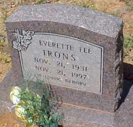 IRONS, EVERETTE LEE - Montgomery County, Arkansas | EVERETTE LEE IRONS - Arkansas Gravestone Photos