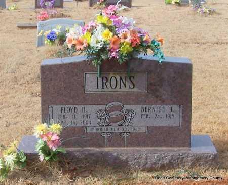 IRONS, FLOYD H - Montgomery County, Arkansas | FLOYD H IRONS - Arkansas Gravestone Photos