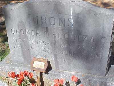 IRONS, LOUIZA C. - Montgomery County, Arkansas | LOUIZA C. IRONS - Arkansas Gravestone Photos