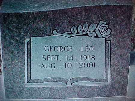 IRONS, GEORGE LEO  (CLOSEUP) - Montgomery County, Arkansas | GEORGE LEO  (CLOSEUP) IRONS - Arkansas Gravestone Photos