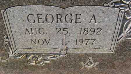 IRONS, GEORGE A (CLOSE UP) - Montgomery County, Arkansas | GEORGE A (CLOSE UP) IRONS - Arkansas Gravestone Photos