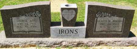IRONS, GLADYS M - Montgomery County, Arkansas   GLADYS M IRONS - Arkansas Gravestone Photos