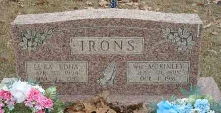 IRONS, WM. MCKINLEY - Montgomery County, Arkansas | WM. MCKINLEY IRONS - Arkansas Gravestone Photos