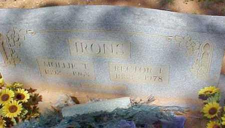 IRONS, MOLLIE T - Montgomery County, Arkansas | MOLLIE T IRONS - Arkansas Gravestone Photos