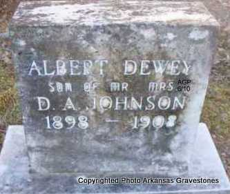 JOHNSON, ALBERT DEWEY - Montgomery County, Arkansas | ALBERT DEWEY JOHNSON - Arkansas Gravestone Photos