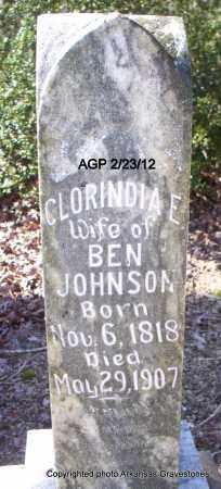 JOHNSON, CLORINDIA E - Montgomery County, Arkansas | CLORINDIA E JOHNSON - Arkansas Gravestone Photos