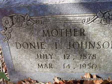 JOHNSON, DONIE I - Montgomery County, Arkansas   DONIE I JOHNSON - Arkansas Gravestone Photos