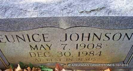 JOHNSON, EUNICE - Montgomery County, Arkansas | EUNICE JOHNSON - Arkansas Gravestone Photos