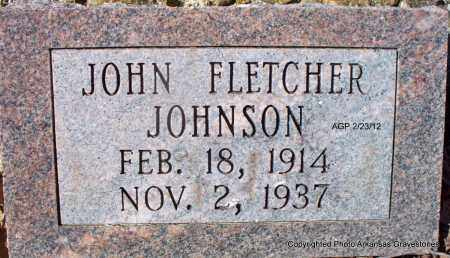 JOHNSON, JOHN FLETCHER - Montgomery County, Arkansas   JOHN FLETCHER JOHNSON - Arkansas Gravestone Photos