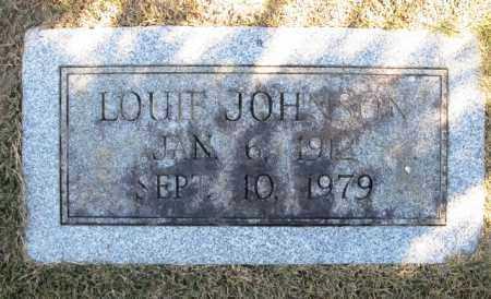 JOHNSON, LOUIE - Montgomery County, Arkansas   LOUIE JOHNSON - Arkansas Gravestone Photos