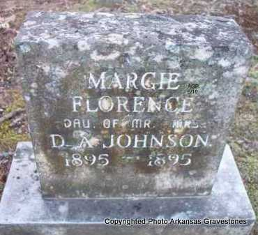 JOHNSON, MARGIE FLORENCE - Montgomery County, Arkansas | MARGIE FLORENCE JOHNSON - Arkansas Gravestone Photos